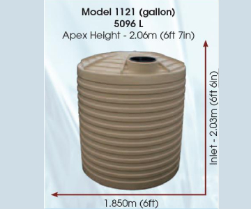 Model 1121 Gallon 5096 Litre Water Tank