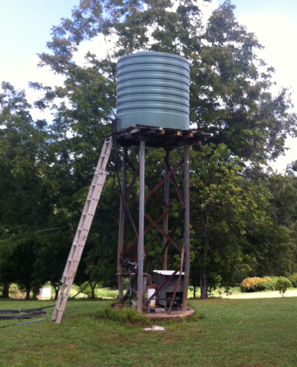 water tank installation on tank stand