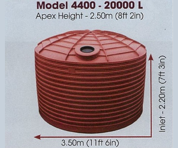 Model 4400 gallon 20000 litre water tank