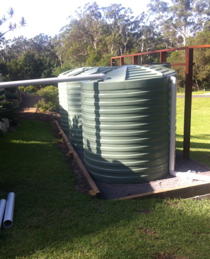water tank installation and site preparation